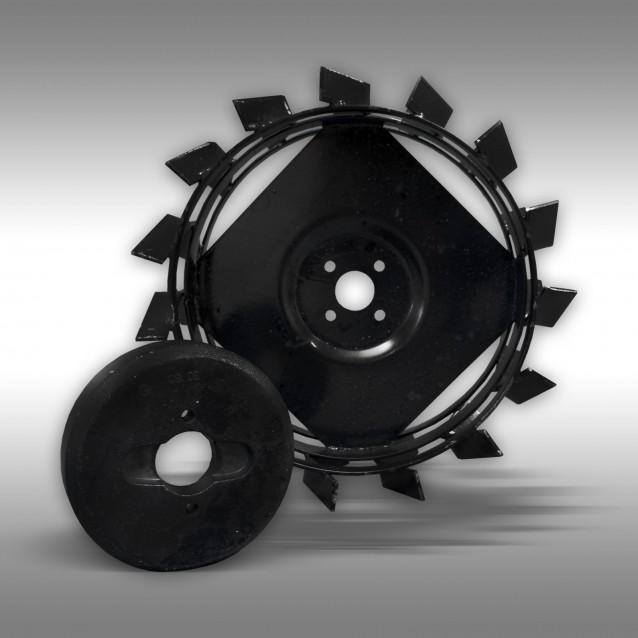Schaufelräder+Gewichte (Set) für Motorgeräteträger Jansen MGT-800D
