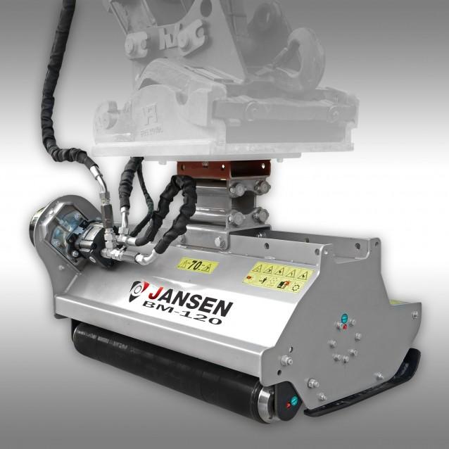 Baggermulcher Jansen BM-120, hydraulisch, Minibagger, Schlegelmulcher