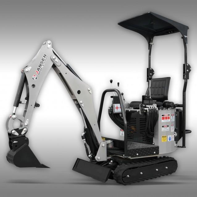 Minibagger Jansen MB-1500, Microbagger, Benzinmotor, Komplett-Set
