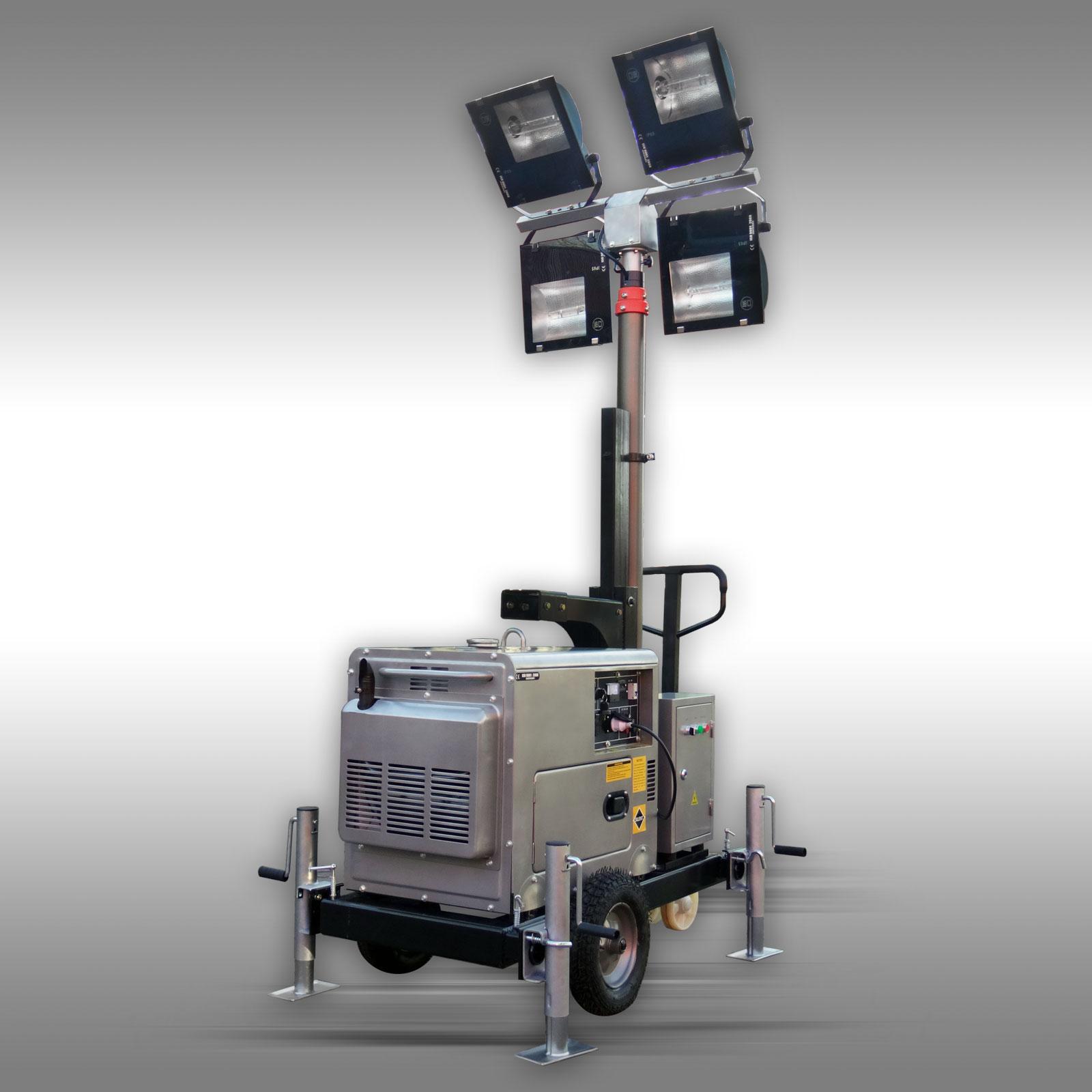 diesel stromgenerator 5 kw lichtmast flutlicht stromaggregat stromerzeuger ebay. Black Bedroom Furniture Sets. Home Design Ideas