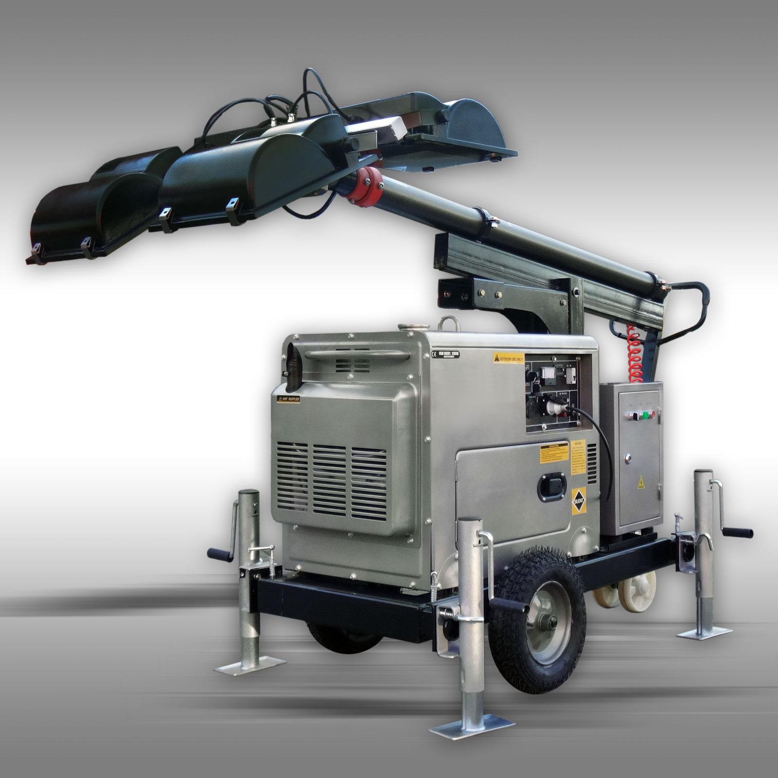 diesel stromgenerator 5 kw lichtmast flutlicht stromaggregat stromerzeuger. Black Bedroom Furniture Sets. Home Design Ideas