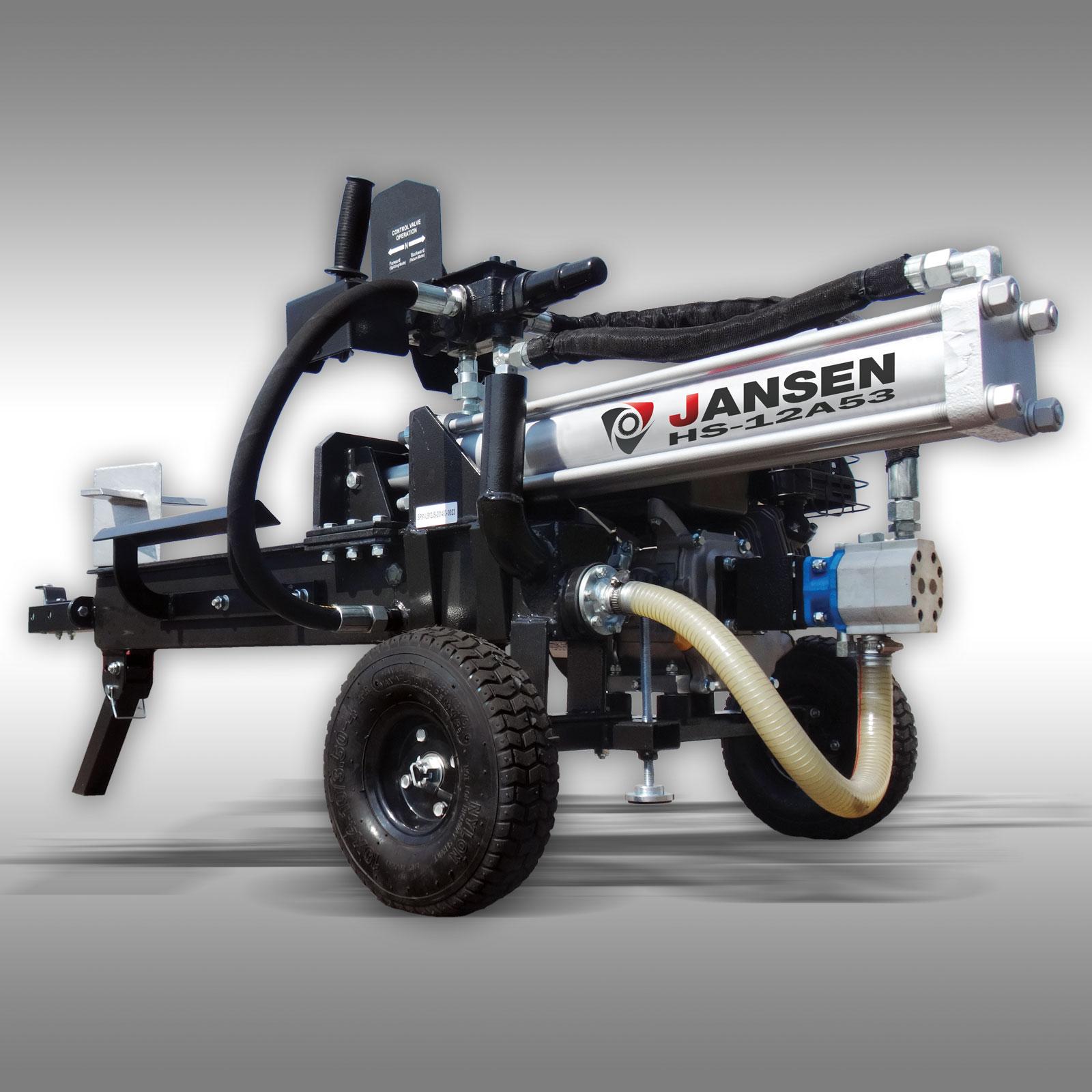 holzspalter jansen hs 12l53 12 t benzinmotor 6 5 ps. Black Bedroom Furniture Sets. Home Design Ideas