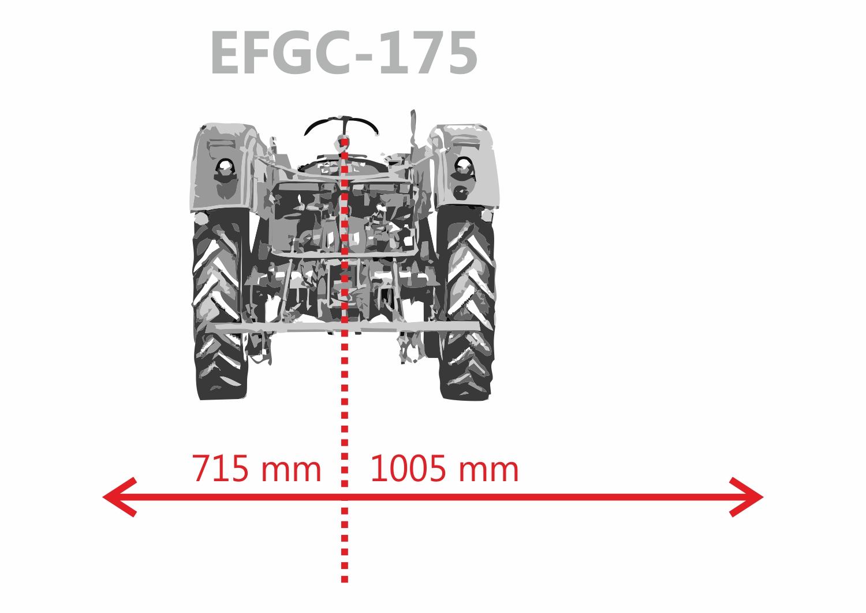 Flail mower Jansen EFGC-175